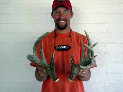 Matched coues shed antlers - 122 inches